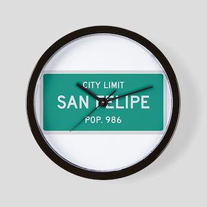 San Felipe, Texas City Limits Wall Clock
