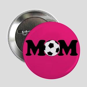 "design 2.25"" Button Soccer Mom PInk"