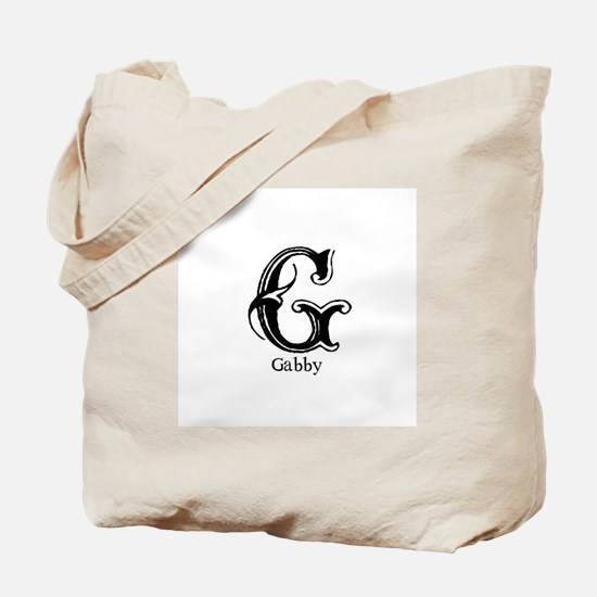 Gabby: Fancy Monogram Tote Bag