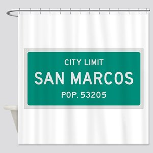 San Marcos, Texas City Limits Shower Curtain