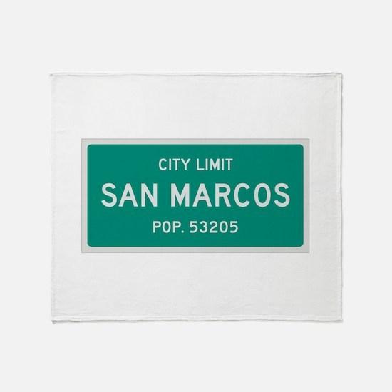 San Marcos, Texas City Limits Throw Blanket