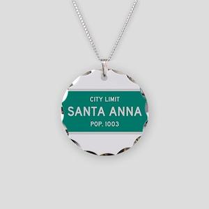 Santa Anna, Texas City Limits Necklace