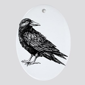 Raven Ornament (Oval)