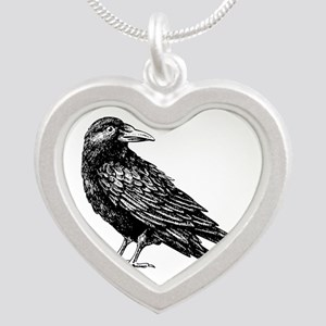 Raven Silver Heart Necklace