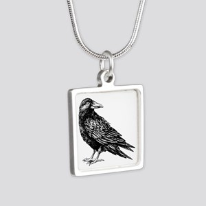 Raven Silver Square Necklace
