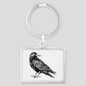 Raven Landscape Keychain