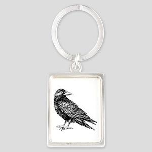 Raven Portrait Keychain