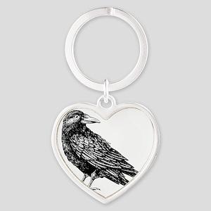 Raven Heart Keychain