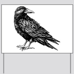 Raven Yard Sign