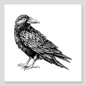 "Raven Square Car Magnet 3"" x 3"""