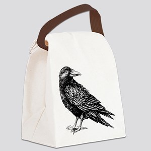 Raven Canvas Lunch Bag