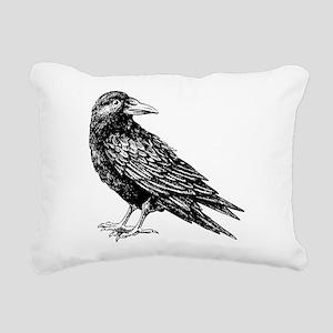 Raven Rectangular Canvas Pillow