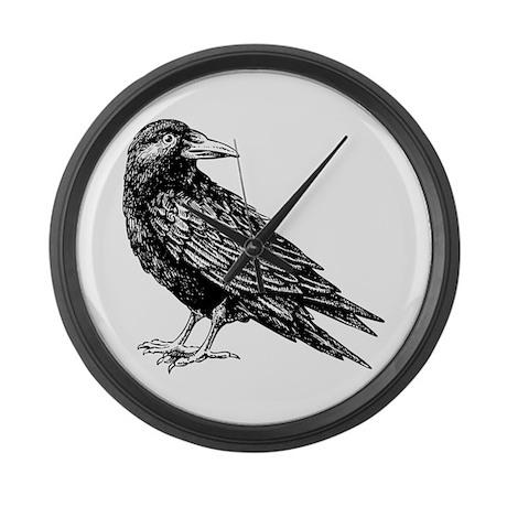 Raven Large Wall Clock