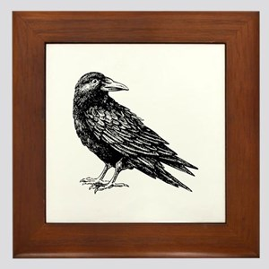 Raven Framed Tile