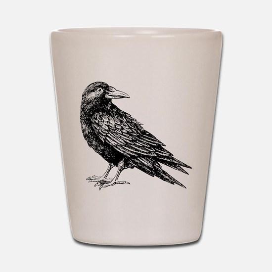 Raven Shot Glass