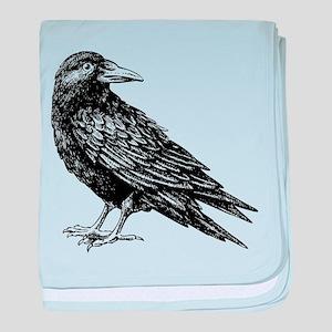 Raven baby blanket