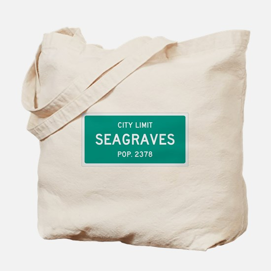 Seagraves, Texas City Limits Tote Bag