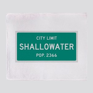 Shallowater, Texas City Limits Throw Blanket