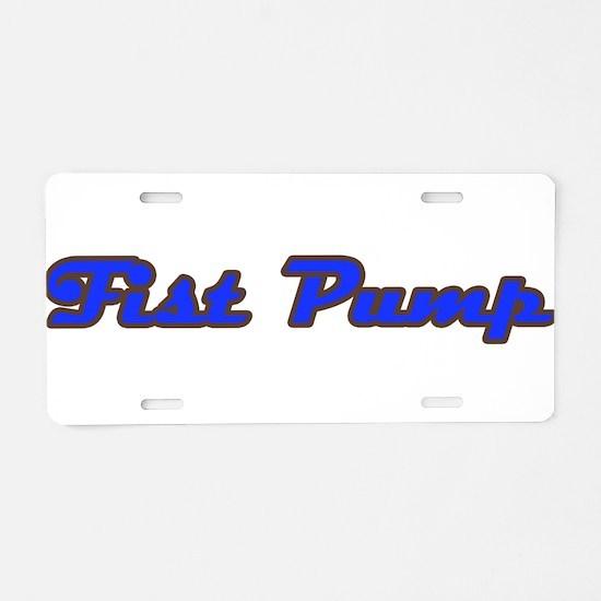 Fist Pump Aluminum License Plate