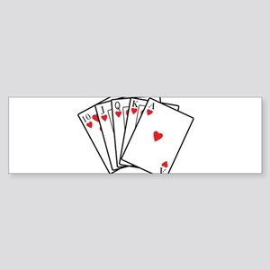 Royal Flush Bumper Sticker
