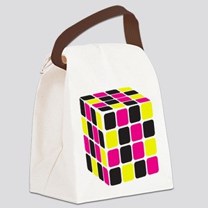 Cube Canvas Lunch Bag