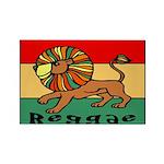 Reggae Rectangle Magnet