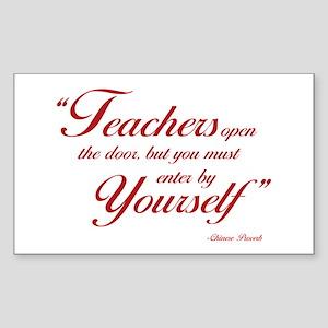 Teachers... Rectangle Sticker