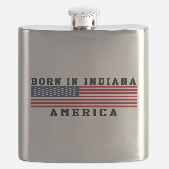 Born In Indiana Flask