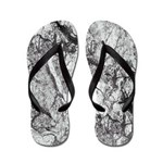Black and White Marble Flip Flops
