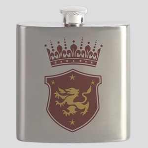 Shield and Crown Flask