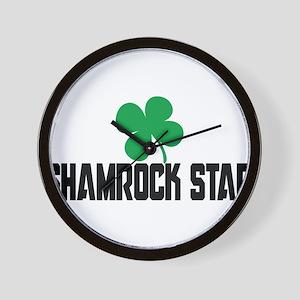 Shamrock Star Wall Clock