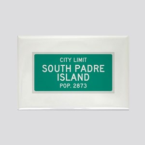 South Padre Island, Texas City Limits Rectangle Ma