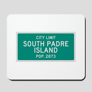 South Padre Island, Texas City Limits Mousepad