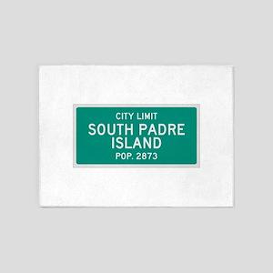 South Padre Island, Texas City Limits 5'x7'Area Ru
