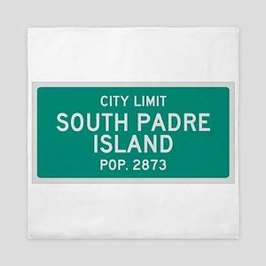 South Padre Island, Texas City Limits Queen Duvet