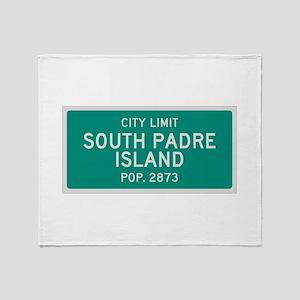 South Padre Island, Texas City Limits Throw Blank