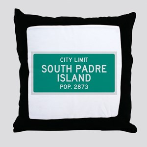 South Padre Island, Texas City Limits Throw Pillow