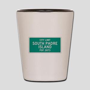 South Padre Island, Texas City Limits Shot Glass