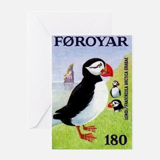 Vintage 1978 Faroe Islands Puffins Postage Stamp G