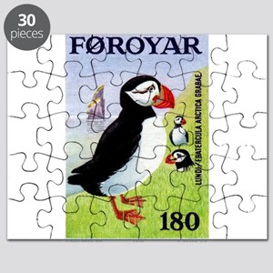 Vintage 1978 Faroe Islands Puffins Postage Stamp P