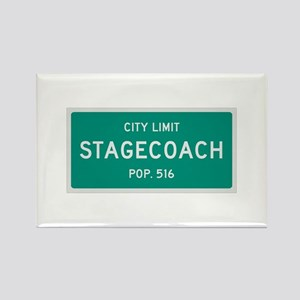 Stagecoach, Texas City Limits Rectangle Magnet