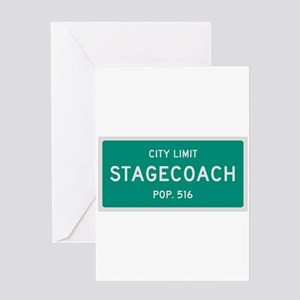 Stagecoach, Texas City Limits Greeting Card