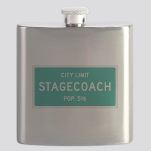 Stagecoach, Texas City Limits Flask