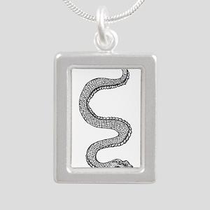 Snake Silver Portrait Necklace