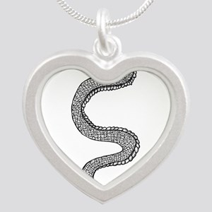 Snake Silver Heart Necklace