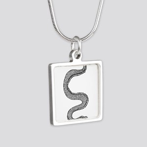 Snake Silver Square Necklace