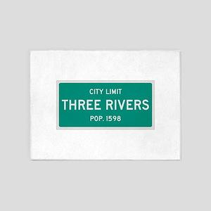 Three Rivers, Texas City Limits 5'x7'Area Rug