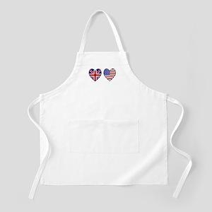 Union Jack / USA Heart Flags BBQ Apron