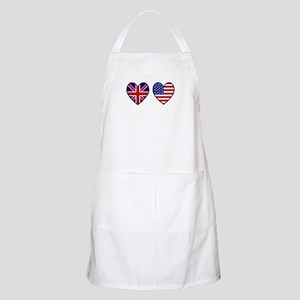 Union Jack / USA Heart Flags BBQ Apron