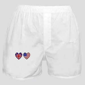 Union Jack / USA Heart Flags Boxer Shorts